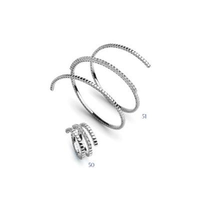 Bracciale e anello con diamanti - collezione Assoluta