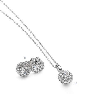 Orecchini e pendente con diamanti - collezione Incanti