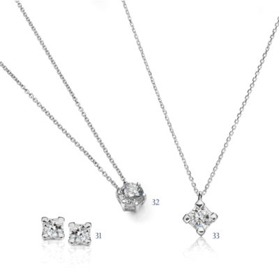 Orecchini e pendenti con diamanti - collezione Unica