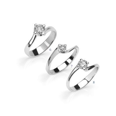 Anelli con diamante - collezione Solitario