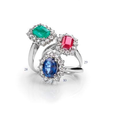 Anelli con pietre preziose e diamanti - collezione Passione