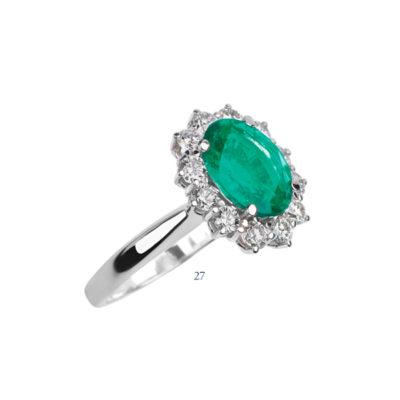 Anello con smeraldo e diamanti - collezione Passione