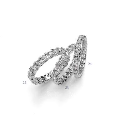 Fedine a giro con diamanti - collezione Amore